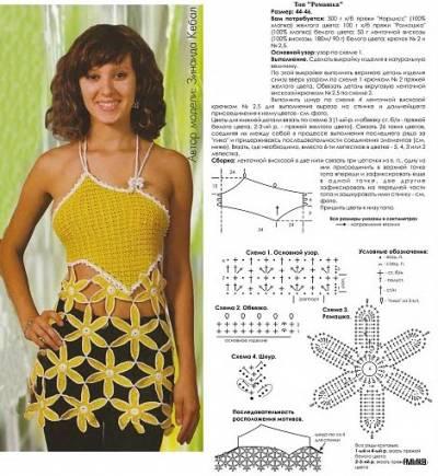 Вязание крючком схемы и модели летних